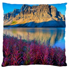 Banff National Park 1 Large Flano Cushion Cases (one Side)  by trendistuff
