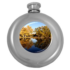 Autumn Lake Round Hip Flask (5 Oz) by trendistuff