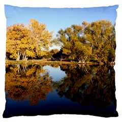 Autumn Lake Large Flano Cushion Cases (two Sides)  by trendistuff