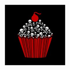 Skull Cupcake Medium Glasses Cloth (2 Sides) by waywardmuse