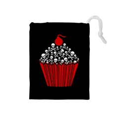 Skull Cupcake Drawstring Pouch (medium) by waywardmuse