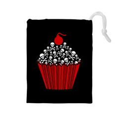 Skull Cupcake Drawstring Pouch (large)