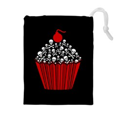 Skull Cupcake Drawstring Pouch (xl)