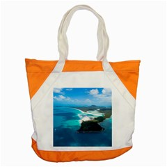 Whitehaven Beach 2 Accent Tote Bag  by trendistuff