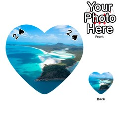 Whitehaven Beach 2 Playing Cards 54 (heart)  by trendistuff