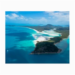 Whitehaven Beach 2 Small Glasses Cloth (2-side) by trendistuff