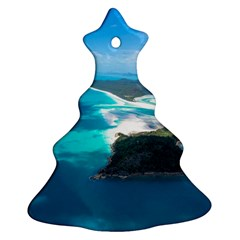 Whitehaven Beach 2 Christmas Tree Ornament (2 Sides) by trendistuff