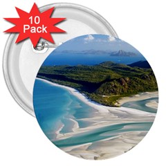 Whitehaven Beach 1 3  Buttons (10 Pack)  by trendistuff
