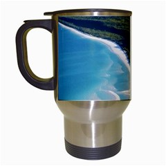 Whitehaven Beach 1 Travel Mugs (white) by trendistuff