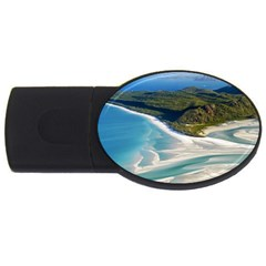 Whitehaven Beach 1 Usb Flash Drive Oval (4 Gb)  by trendistuff