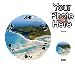 Whitehaven Beach 1 Playing Cards 54 (round)  by trendistuff
