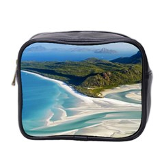 Whitehaven Beach 1 Mini Toiletries Bag 2 Side by trendistuff