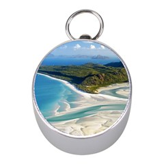 Whitehaven Beach 1 Mini Silver Compasses by trendistuff