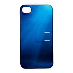 Underwater Sunlight Apple Iphone 4/4s Hardshell Case With Stand by trendistuff
