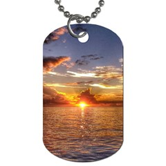 Tahitian Sunset Dog Tag (two Sides)