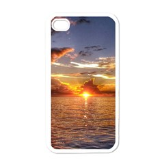 Tahitian Sunset Apple Iphone 4 Case (white) by trendistuff