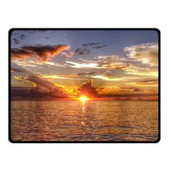 Tahitian Sunset Double Sided Fleece Blanket (small)  by trendistuff