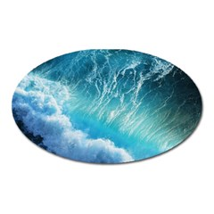 Storm Waves Oval Magnet by trendistuff