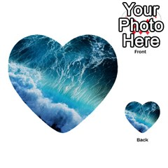 Storm Waves Multi Purpose Cards (heart)