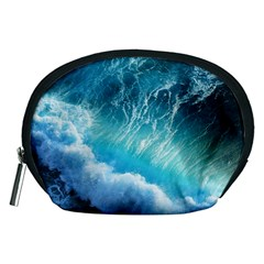 Storm Waves Accessory Pouches (medium)  by trendistuff