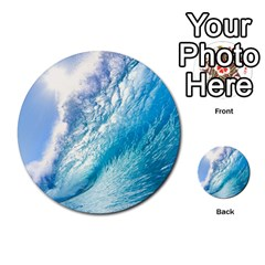 Ocean Wave 1 Multi Purpose Cards (round)  by trendistuff