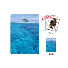 Ocean Island Playing Cards (mini)  by trendistuff
