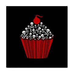 Skull Cupcake Tile Coaster by waywardmuse