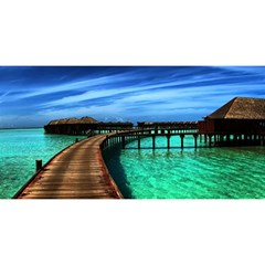 Maldives 2 You Are Invited 3d Greeting Card (8x4)  by trendistuff
