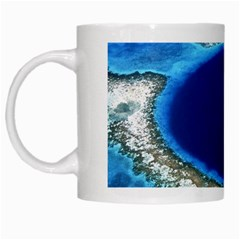 Great Blue Hole 2 White Mugs by trendistuff