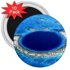 Great Blue Hole 2 3  Magnets (10 Pack)  by trendistuff