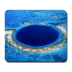 Great Blue Hole 2 Large Mousepads by trendistuff
