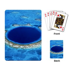 Great Blue Hole 2 Playing Card by trendistuff