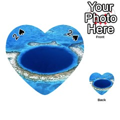 Great Blue Hole 2 Playing Cards 54 (heart)  by trendistuff