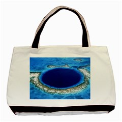 Great Blue Hole 2 Basic Tote Bag (two Sides)  by trendistuff