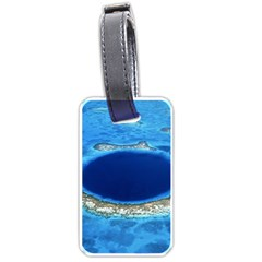 Great Blue Hole 2 Luggage Tags (two Sides) by trendistuff