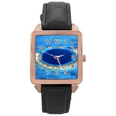 Great Blue Hole 2 Rose Gold Watches by trendistuff