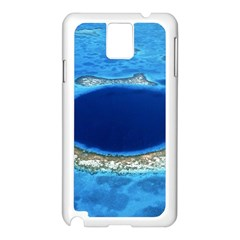 Great Blue Hole 2 Samsung Galaxy Note 3 N9005 Case (white) by trendistuff