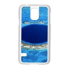 Great Blue Hole 2 Samsung Galaxy S5 Case (white) by trendistuff