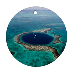 Great Blue Hole 1 Ornament (round)