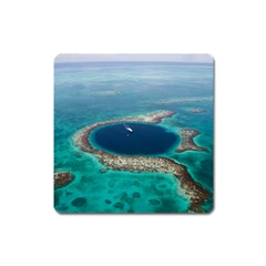 Great Blue Hole 1 Square Magnet by trendistuff