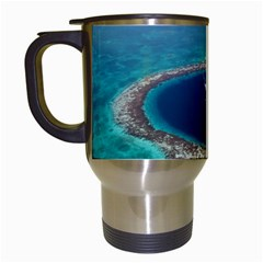 Great Blue Hole 1 Travel Mugs (white) by trendistuff