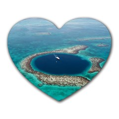 Great Blue Hole 1 Heart Mousepads by trendistuff
