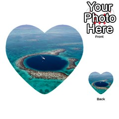 Great Blue Hole 1 Multi-purpose Cards (heart)  by trendistuff