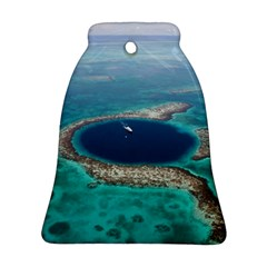 Great Blue Hole 1 Ornament (bell)  by trendistuff