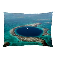 Great Blue Hole 1 Pillow Cases (two Sides) by trendistuff