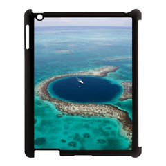 Great Blue Hole 1 Apple Ipad 3/4 Case (black) by trendistuff