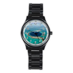 Great Blue Hole 1 Stainless Steel Round Watches by trendistuff
