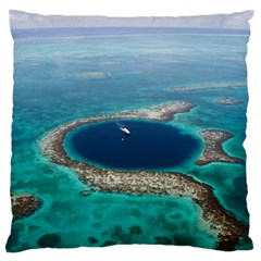 Great Blue Hole 1 Standard Flano Cushion Cases (one Side)  by trendistuff