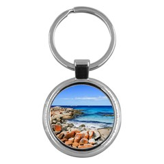 Bay Of Fires Key Chains (round)  by trendistuff