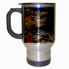 Bay Of Fires Travel Mug (silver Gray) by trendistuff
